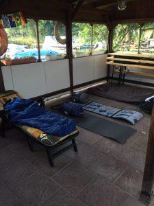 Biwak auf dem vereinsglände